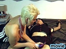 This tranny slut gets her cock punished by Mistress Helga
